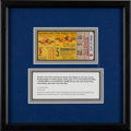 Baseball Collectibles:Tickets, 1956 World Series Game 5 Ticket Stub from Don Larsen's PerfectGame. ...