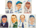 Baseball Collectibles:Others, 1980's-90's Perez-Steele Hall of Fame Signed Postcards Lot of 47....