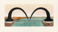 Prints, CLAES OLDENBURG (American, b. 1929). Screwarch Bridge (State III), 1981. Etching, aquatint and monoprint in colors. 23-1...