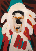 Post-War & Contemporary:Sculpture, KAREL APPEL (Dutch, 1921-2006). Indian Chief, 1977. Acrylicon wood. 32 x 22-7/8 inches (81.3 x 58.1 cm). Signed lower r...