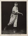 Autographs:Photos, 1939 Cy Young Signed Magazine Photograph....