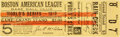 Baseball Collectibles:Tickets, 1912 World Series Game Five Ticket Stub (Boston Red Sox)....