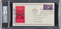 Autographs:Others, 1939 Babe Ruth Signed Baseball Centennial First Day Cover, PSA/DNANM-MT 8....