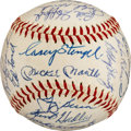 Autographs:Baseballs, 1960 New York Yankees Team Signed Baseball, PSA/DNA NM-MT 8....