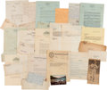 Baseball Collectibles:Others, 1920's Correspondence Relating to the Delahanty Estate....