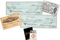 Autographs:Checks, 1950's-90's Charles Comiskey II Signed Checks & Ephemera Lot of43....