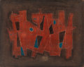 Post-War & Contemporary:Contemporary, CARLOS MÉRIDA (Guatemalan, 1891-1984). Untitled, 1965.Watercolor on masonite with incised lines. 7-3/4 x 9-7/8 inches(...