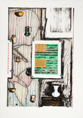 Prints, JASPER JOHNS (American, b. 1930). Ventriloquist, 1986. Lithograph in colors. 36-3/4 x 24-1/4 inches (93.5 x 61.7 cm) sig...