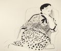 Prints:Contemporary, DAVID HOCKNEY (British, b. 1937). Celia in an Armchair,1980. Lithograph in colors. 37-3/8 x 42-1/2 inches (95.0 x 108.0...