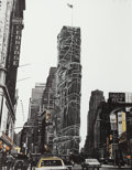 Prints:Contemporary, CHRISTO (American, b. 1935). Allied Chemical Tower, Packed,Project for Number 1, Times Square, New York (from the p...