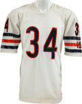 Football Collectibles:Uniforms, 1984-87 Walter Payton Game Worn Chicago Bears Jersey, MEARS A8 - With 7 Team Repairs! ...