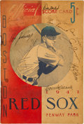 Autographs:Others, 1941 Jimmie Foxx & Connie Mack Multi Signed Boston Red SoxProgram....