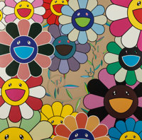TAKASHI MURAKAMI (Japanese, b.1962) Untitled (six works), 2005 Offset lithograph in colors 40-1/