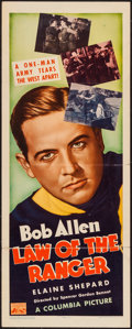"Movie Posters:Western, Law of the Ranger (Columbia, 1937). Insert (14"" X 36""). Western.. ..."