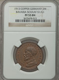 German States:Bavaria, German States: Bavaria. Ludwig III copper Proof Pattern 2 Mark 1913PR55 Brown NGC,...
