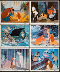 "Movie Posters:Animation, Lady and the Tramp (Buena Vista, 1955/R-1962). Title Lobby Card & Lobby Cards (9) (11"" X 14""). Animation.. ... (Total: 10 Items)"