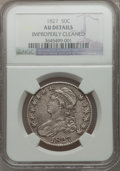 Bust Half Dollars: , 1827 50C Square Base 2 -- Improperly Cleaned -- NGC Details. AU.NGC Census: (132/1194). PCGS Population (206/1102). Mintag...