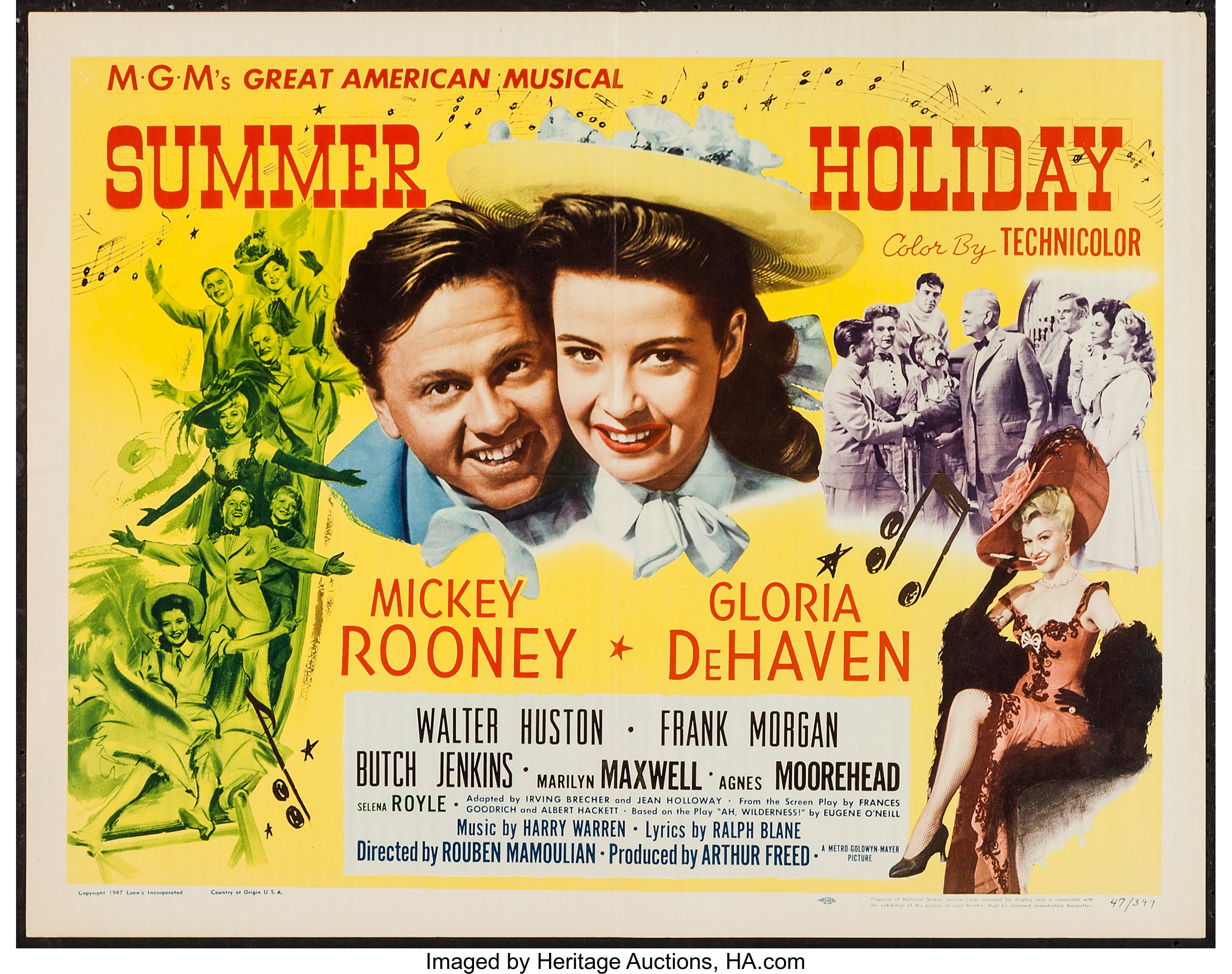 """Summer Holiday (MGM, 1948). Half Sheet (22"""" X 28""""). Musical.. ... 
