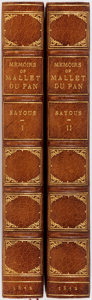 Books:Biography & Memoir, Andre Sayous. Memoirs and Correspondence of Mallet du Pan,Illustrative of the History of the French Revolution....(Total: 2 Items)