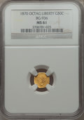 California Fractional Gold: , 1870 50C Goofy Head Octagonal 50 Cents, BG-936, Low R.5, MS61 NGC.NGC Census: (1/4). PCGS Population (4/19). ...