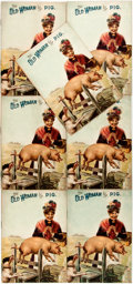 Books:Children's Books, [Anonymous] Lot of Seven Copies of the Children's Book The Old Woman and Her Pig. McLoughlin Brothers, 1903. Num... (Total: 7 Items)