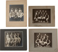 Basketball Collectibles:Photos, 1900's Basketball Studio Photographs Lot of 4....