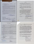 Autographs:Others, 1981-94 Ted Williams, Larry Bird, Bobby Orr and Others Signed Contracts Lot of 18....