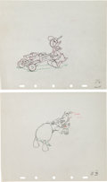 Animation Art:Production Drawing, Donald's Cousin Gus Donald Duck Production Drawing AnimationArt Group (Walt Disney, 1939).... (Total: 2 Original Art)