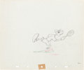 Animation Art:Production Drawing, Tennis Racquet Goofy Production Drawing Animation Art (WaltDisney, 1949)....