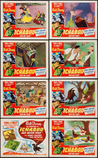 "The Adventures of Ichabod and Mr. Toad (RKO, 1949). Lobby Card Set of 8 (11"" X 14""). Animation. ... (Total: 7..."