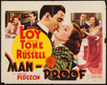 "Movie Posters:Comedy, Man-Proof (MGM, 1938). Half Sheet (22"" X 28""). Comedy.. ..."