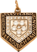 Baseball Collectibles:Others, 1997 Cleveland Indians American League Championship Pendant....