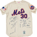Baseball Collectibles:Uniforms, 1969 New York Mets Reunion Signed Jersey....