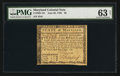 Colonial Notes:Maryland, Maryland June 28, 1780 $8 PMG Choice Uncirculated 63 Net.. ...