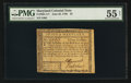 Colonial Notes:Maryland, Maryland June 28, 1780 $3 PMG About Uncirculated 55 Net.. ...