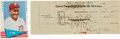 Autographs:Checks, 1945 Ty Cobb Signed Check....