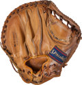 Baseball Collectibles:Others, Early 1960's Yogi Berra Game Used Catcher's Mitt from Mickey MantleHoliday Inn Display, MEARS Authentic. ...