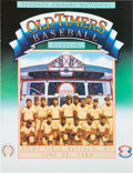 Autographs:Others, 1988-89 Multi Signed Old Timer's Baseball Classic Programs Lot of2....
