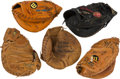 Baseball Collectibles:Others, 1950's-90's Collection of Four Game Used Catcher's Mitts. ...