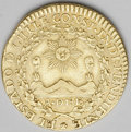 Chile: , Chile: Republic gold 2 Escudos 1825I, Sun, mountains, andvolcanos/Crossed flags, KM86, Fr-35, VF with obverse scratches....