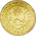 Chile: , Chile: Republic gold 4 Escudos 1834IJ, Sun, mountains, andvolcanos/Crossed flags, KM87, Fr-34, VF....