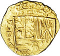 Colombia: , Colombia: Philip IV gold cob 2 Escudos ND (1621-65) NR-A, KM4,Fr-2, 6.79 gm, XF. Quite bold with sharp mintmark and assayer'sinitial...