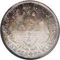 Colombia: , Colombia: Republic of Nueva Granada 10 Reales 1849/8, KM107, AU58 NGC. Nicely struck for the issue with light rubbing on the highpoint...