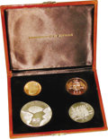 Dominica: , Dominica: Republic Proof Set 1978, KM-PS2 featuring: KM12.3 10 Dollars (mintage 233 pieces), KM13.2 20 Dollars (mintage 233 pieces), K... (Total: 4 Coins Item)