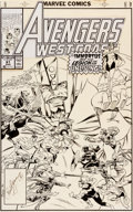 Original Comic Art:Covers, Paul Ryan Avengers West Coast #61 Cover Original Art(Marvel, 1990)....