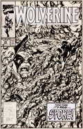 Original Comic Art:Covers, John Byrne Wolverine #22 Cover Original Art (Marvel, 1990)....