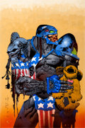 Original Comic Art:Covers, Simon Bisley Maximum Force #1 Cover Painting Original Art(Atomeka, 2002)....