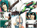 Original Comic Art:Panel Pages, Mike Grell Green Arrow: The Longbow Hunters Book Three Pages23-24 Original Art (DC, 1987)....