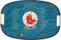 Autographs:Others, 1967 Boston Red Sox Team Signed Home Plate....
