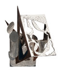 Post-War & Contemporary:Sculpture, FRANK STELLA (American, b. 1936). The Lamp, 1986. Stainlesssteel, carbon steel and bronze. 34-5/8 x 24-3/8 x 23-5/8 inc...